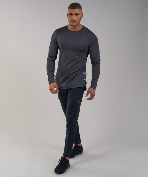 Gymshark Breathe Long Sleeve T-Shirt - Black Marl 3