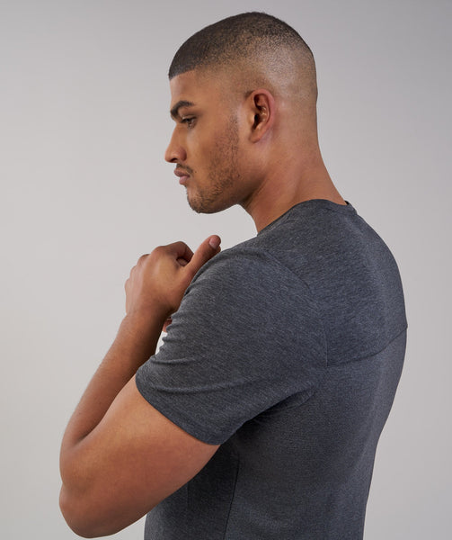 Gymshark Breathe T-Shirt - Black Marl 4
