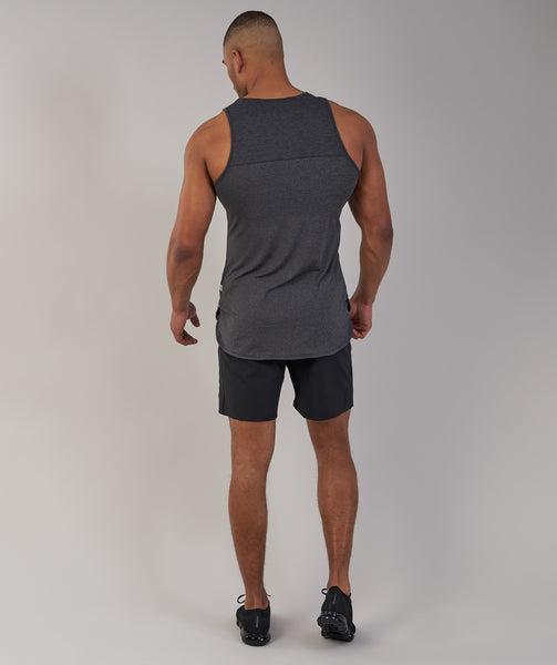Gymshark Breathe Tank - Black Marl 2