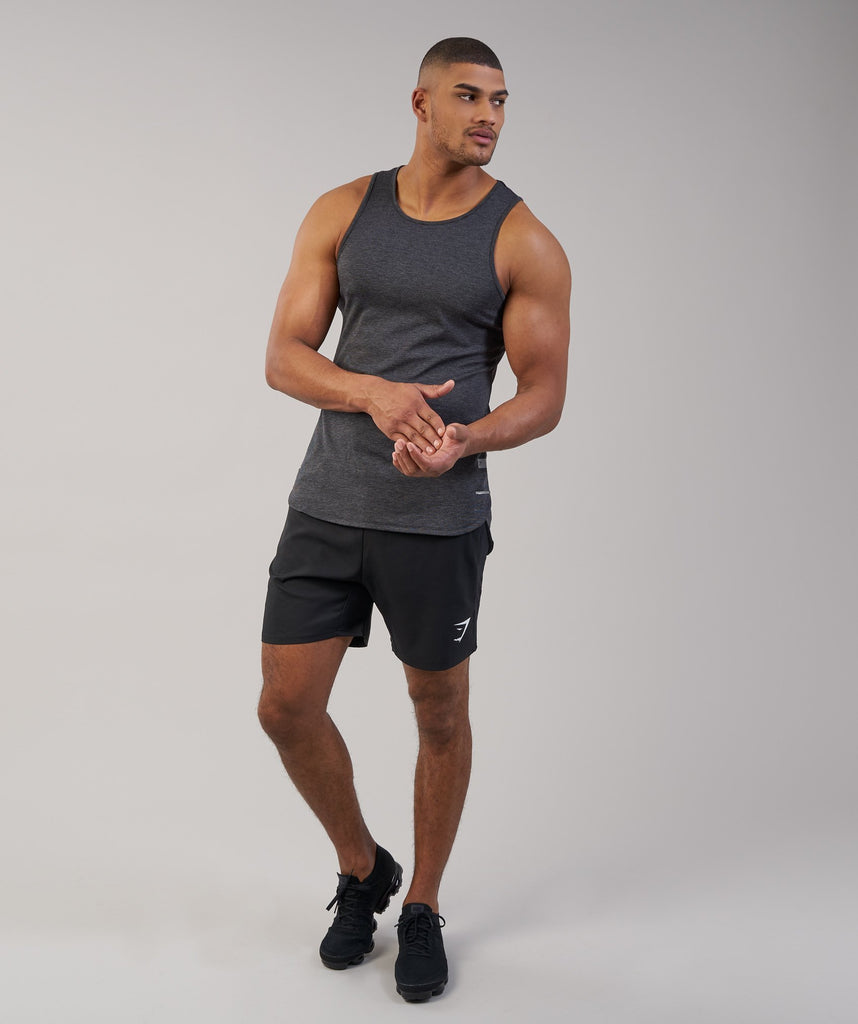 Gymshark Breathe Tank - Black Marl 6