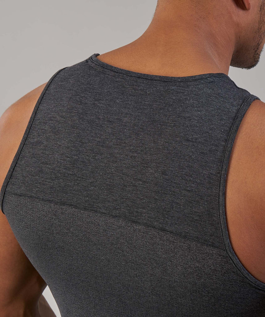 Gymshark Breathe Tank - Black Marl 5