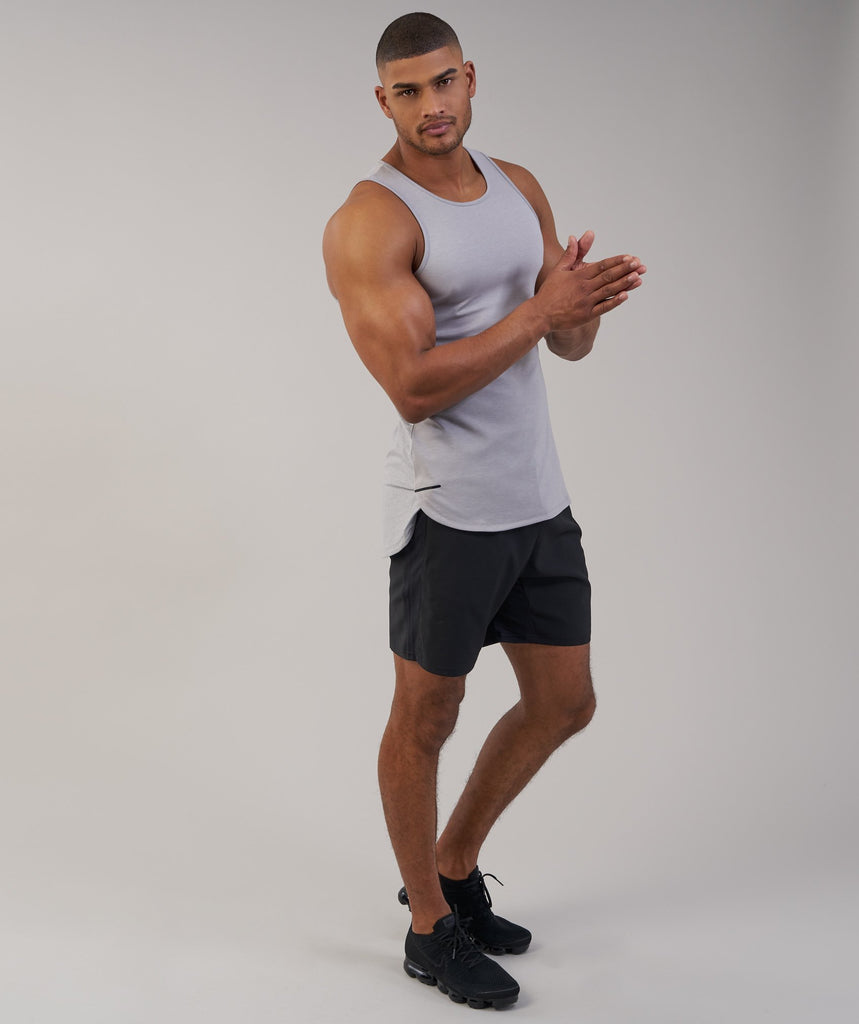 Gymshark Breathe Tank - Light Grey Marl 6