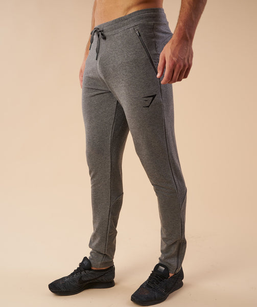Gymshark Fit Tapered Bottoms - Charcoal Marl 3