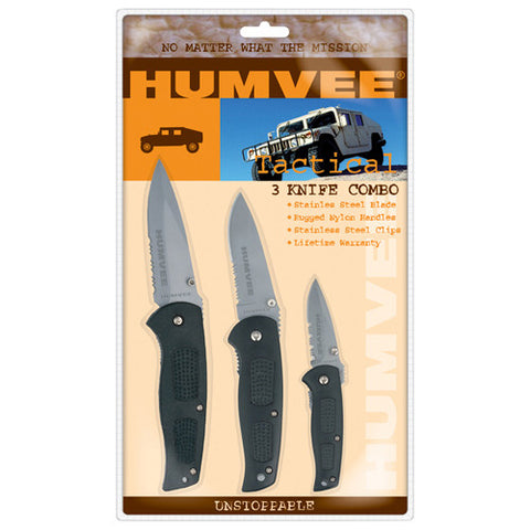 HUMVEE TACTICAL KNIFE COMBO - BLACK