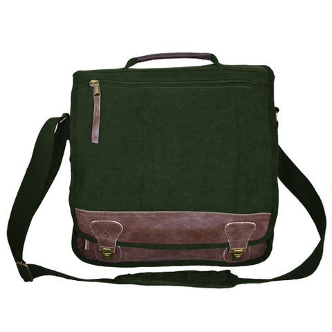 """CLASSIC"" EURO-STYLE MESSENGER BAG - OLIVE DRAB"