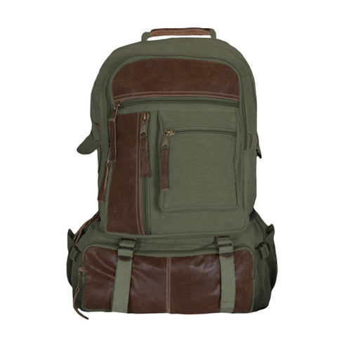 RETRO CANTABRIAN EXCURSION RUCKSACK - OLIVE DRAB