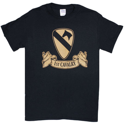 1ST CAVALRY RIBBON T-SHIRT BLACK - XXXL