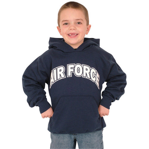 YOUTH'S PULLOVER/HOODED NAVY S/SHIRT-A/F