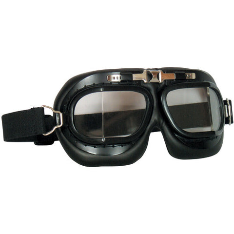 ROYAL AIRFORCE STYLE GOGGLES - BLACK