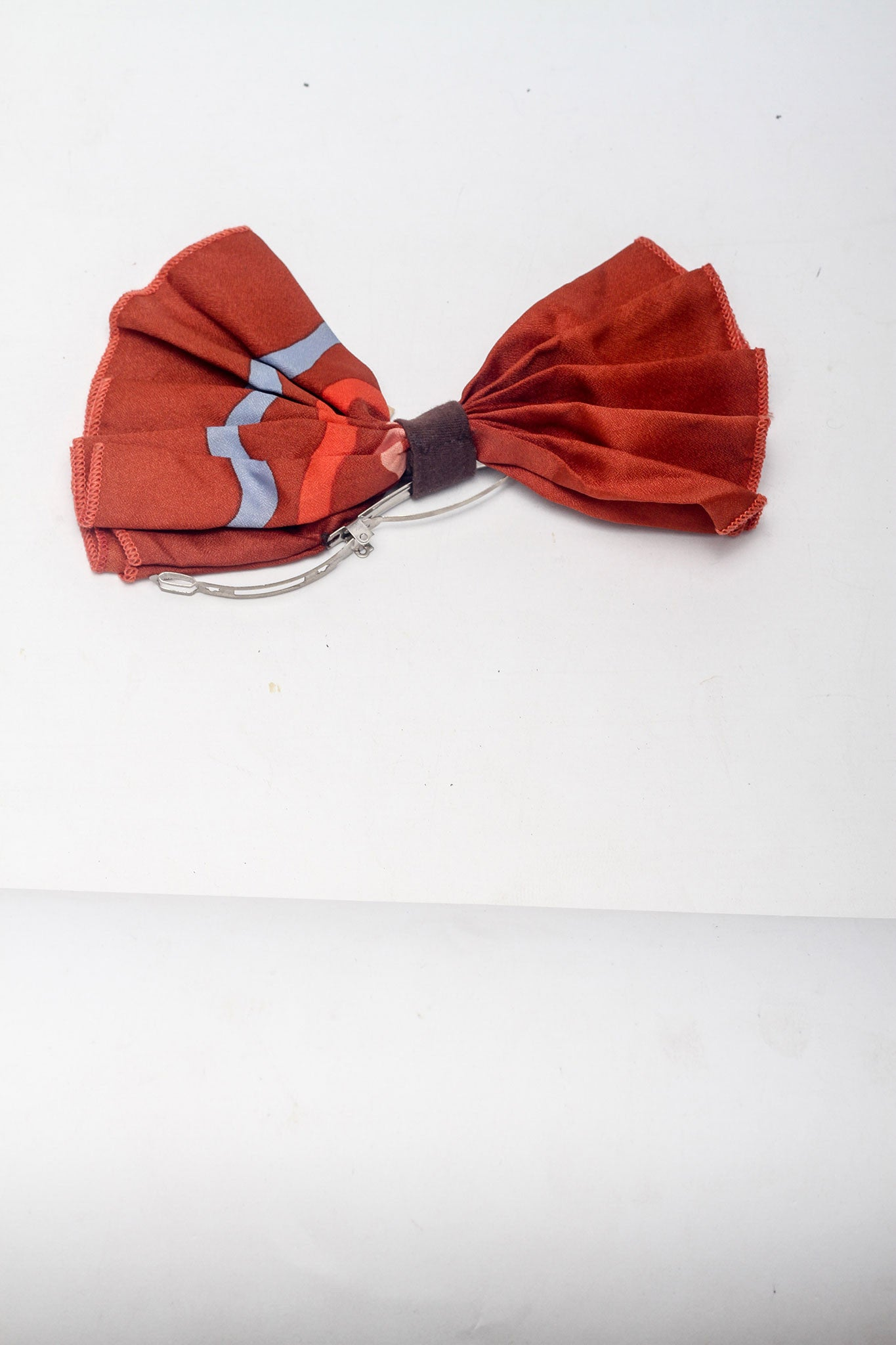 Orange Bow Hair Clip