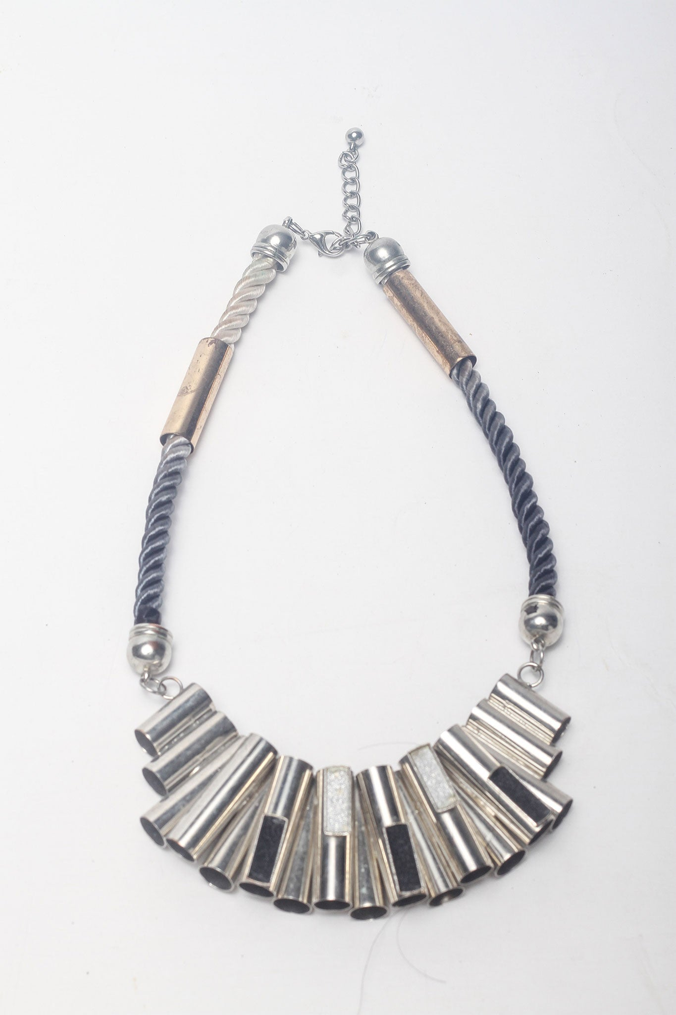 Metal Necklace with Rope Detail