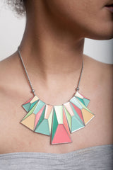 Green and Pink Metal Necklace