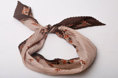 Cream and Brown Floral Scarf