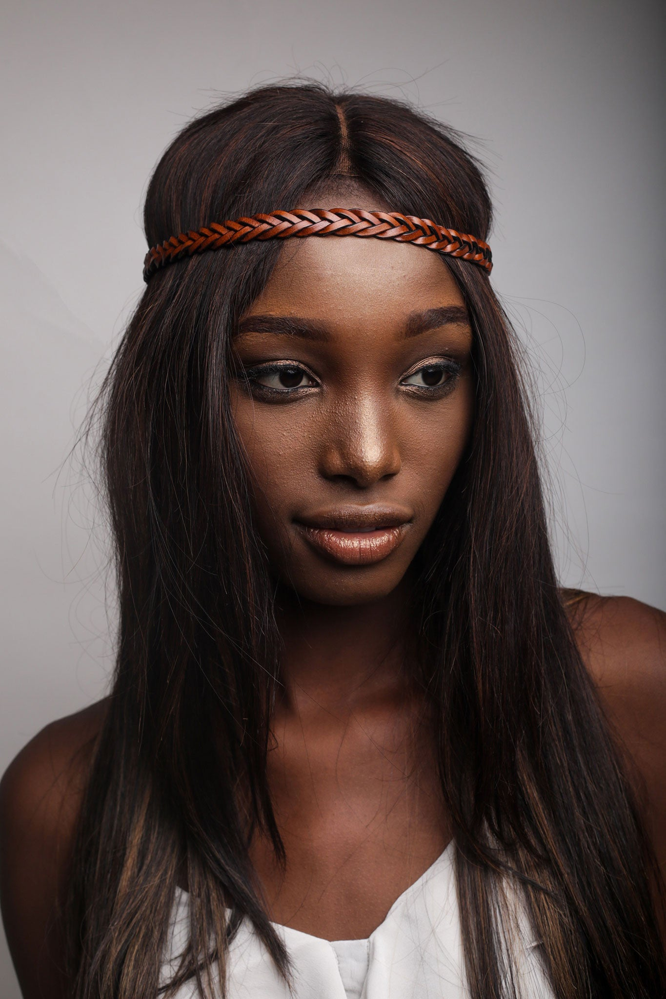 Brown Woven Headband