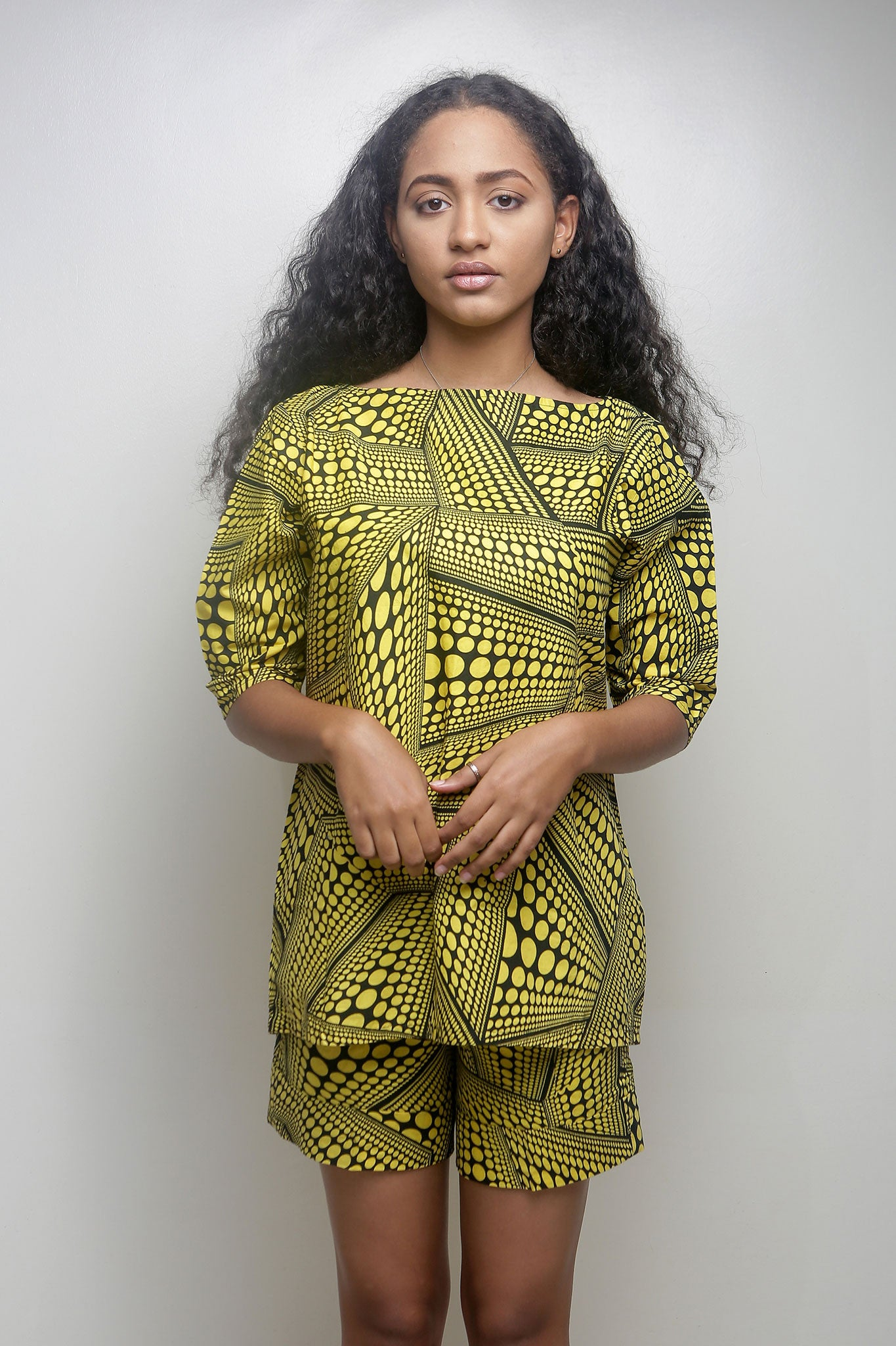 Yellow and Black Ankara Co-ord