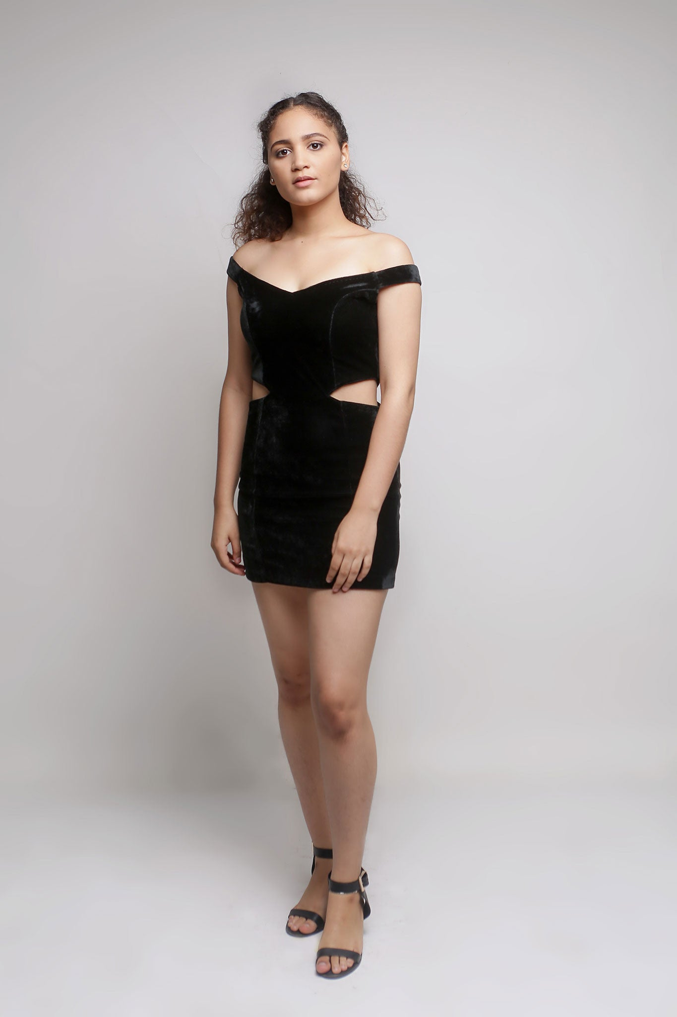 Black Velvet Cut Out Mini