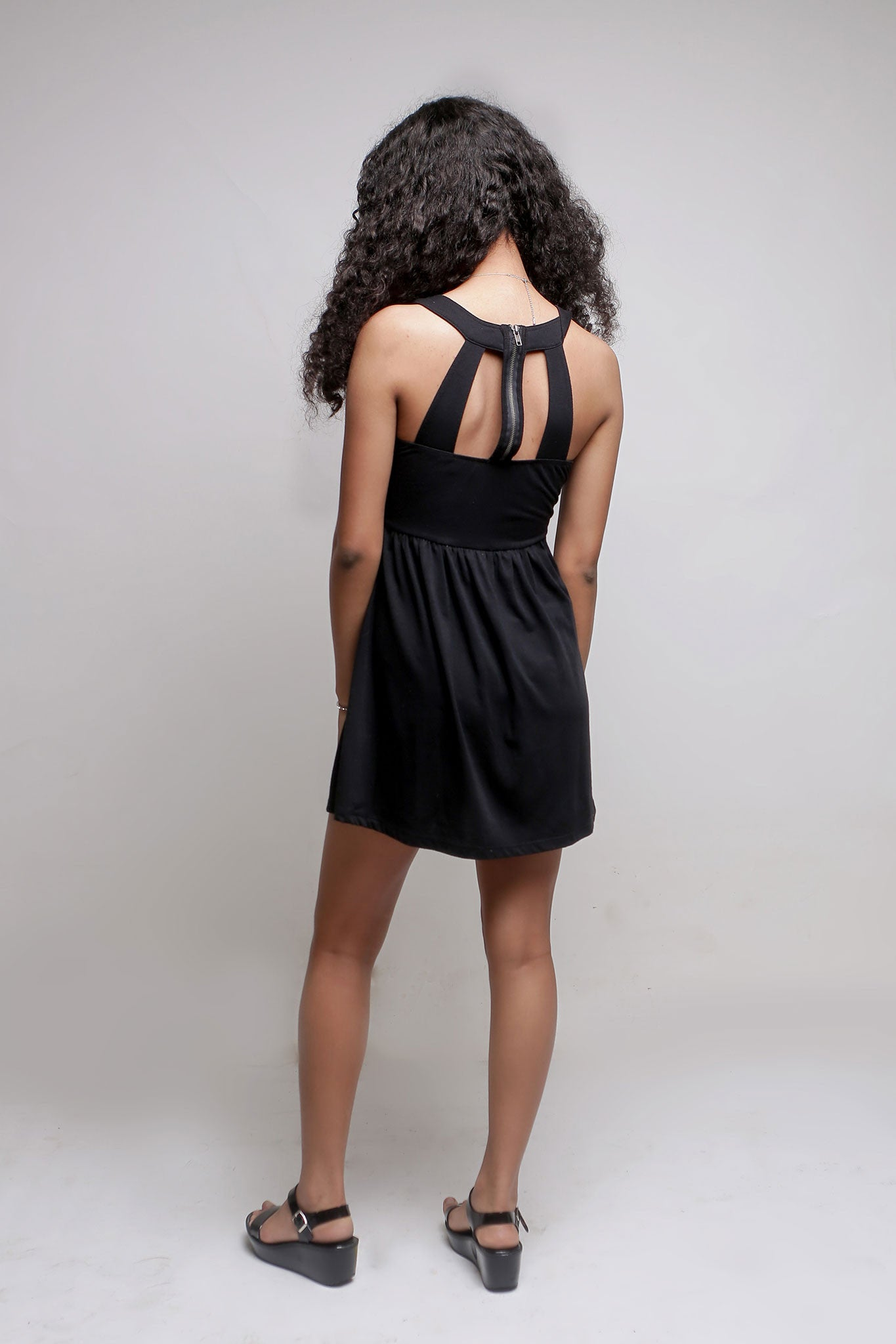 Black Short Cutout Dress