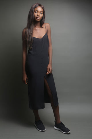 Black Sphagetti Strap Boutique Dress