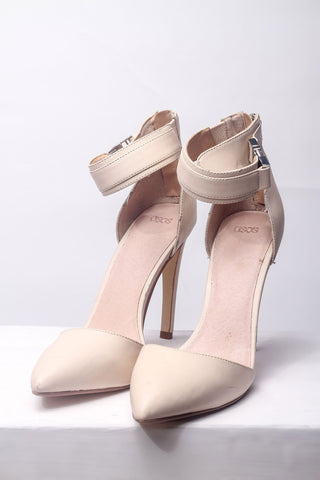 Nude Leather Heels