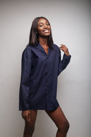 Navy Blue Pyjama Shirt