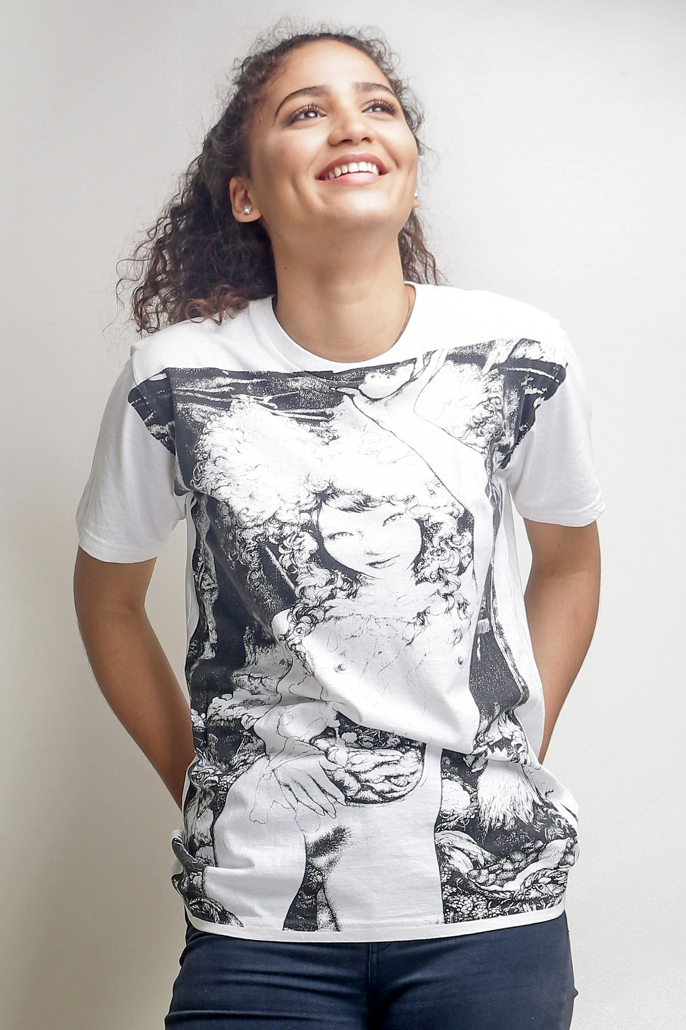 Black and White Short Sleeved Tee