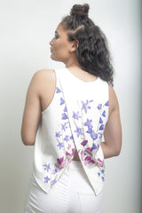 Floral Print with Cross-Over Back