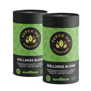 Super Me Smoothies Wellness Blend 1KG (Twin-pack), Superfoods, Functional Mushrooms & Probiotics