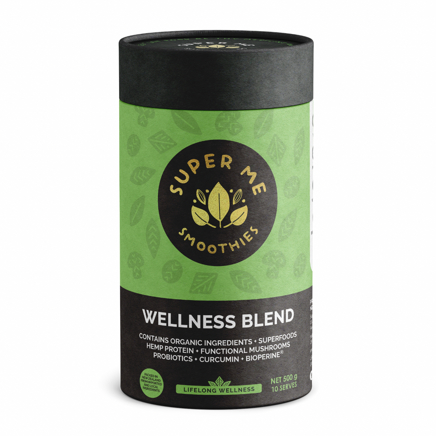 500G SUPER ME SMOOTHIES WELLNESS BLEND WITH SUPERFOODS, FUNCTIONAL MUSHROOMS & PROBIOTICS
