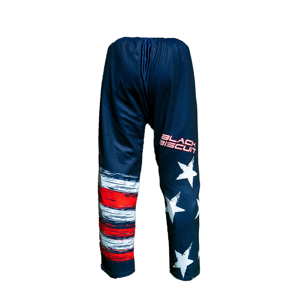 "Black Biscuit 3301 ""USA Flag"" Adult Inline Hockey Pants"