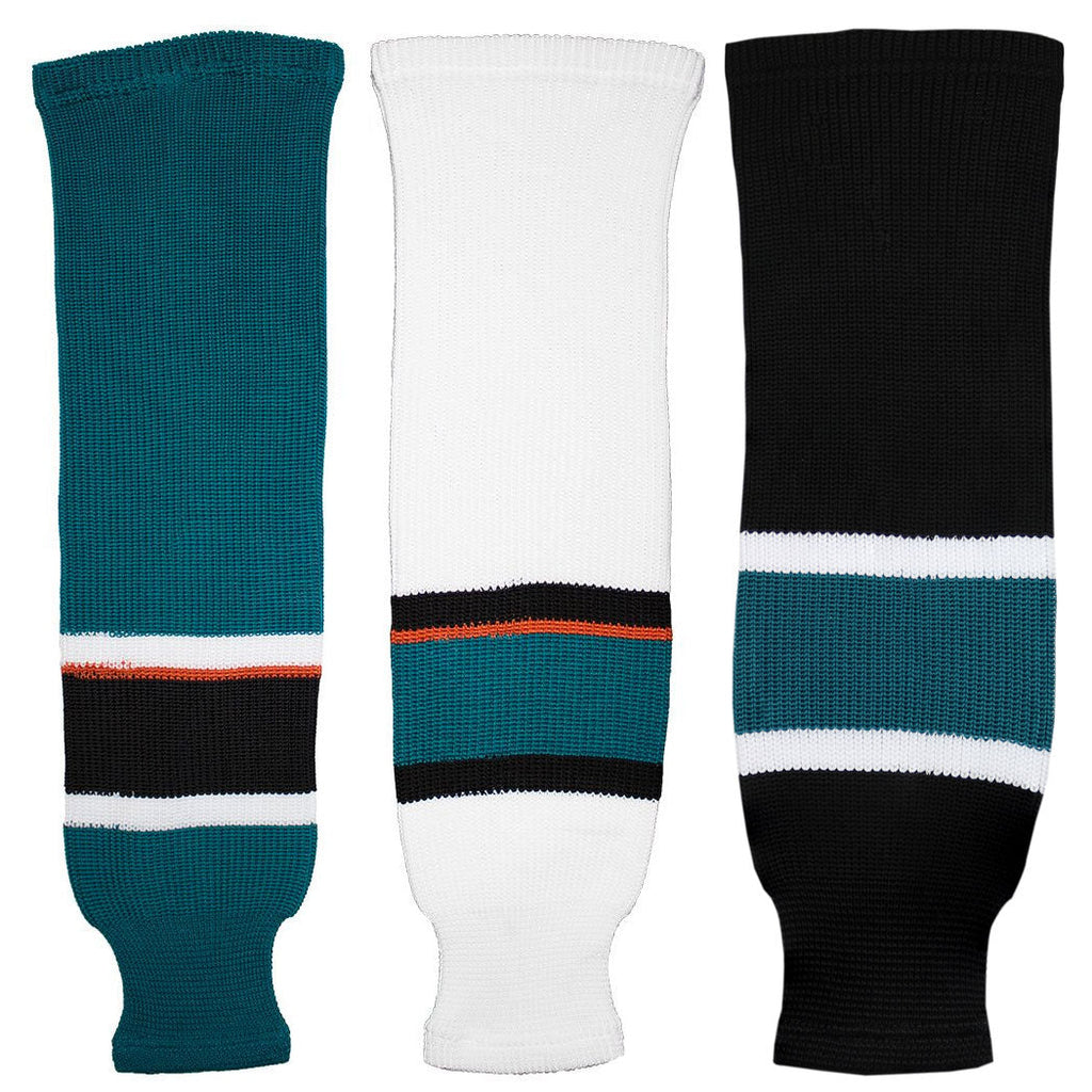 San Jose Sharks Knit Hockey Socks (TronX SK200)