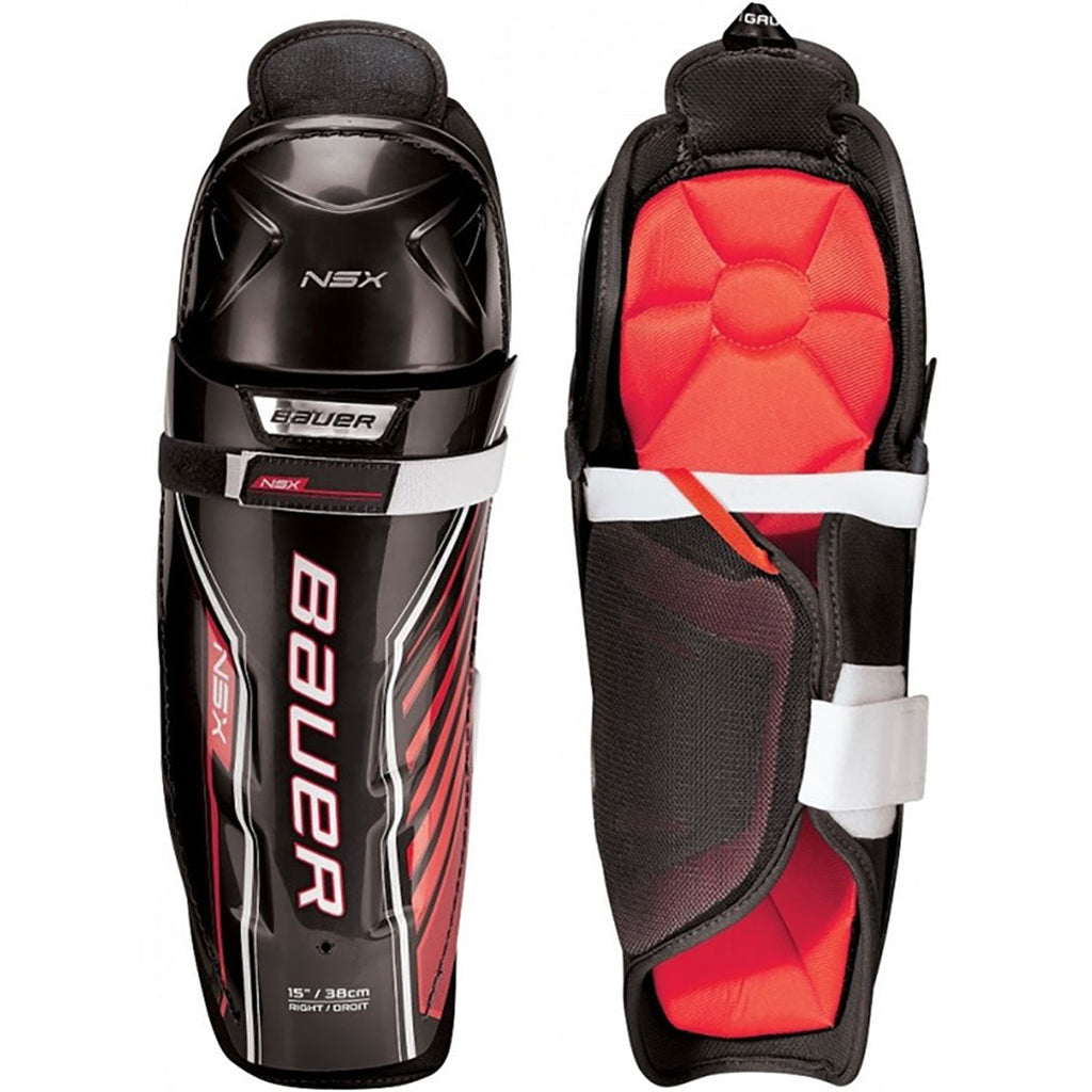 Bauer NSX Junior Hockey Shin Guards - TheHockeydepot.com
