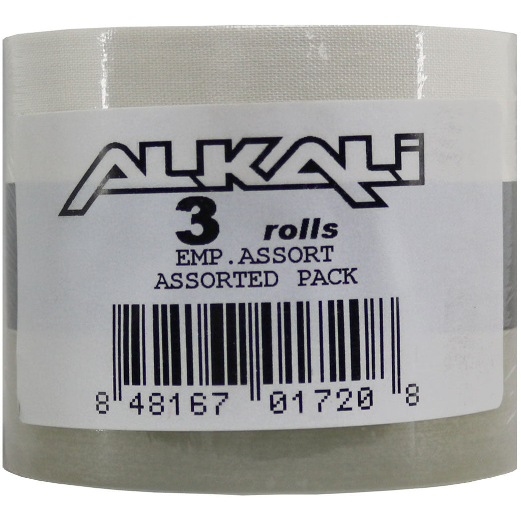 Alkali Hockey Tape 3-Pack - 1 Clear/1 Black/1 White