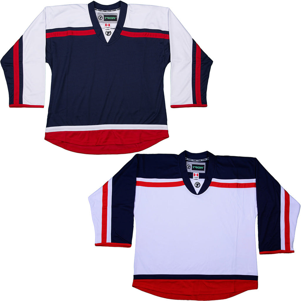 Columbus Blue Jackets Hockey Jersey - TronX DJ300 Replica Gamewear