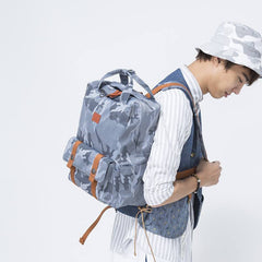 Posing with the Travel Backpack - Kiman Angelia & Pets Camo Backpack - Lightweight, Laptop Compartment & Canvas | UpNext Hong Kong