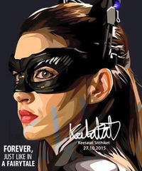 Cat Woman Anna Hathaway DC & Marvel Art Work | Up Next