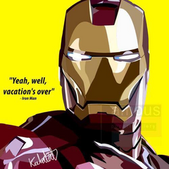 Ironman DC & Marvel Pop Artwork Seasonal Fathers Day Reminder | UpNext Hong Kong