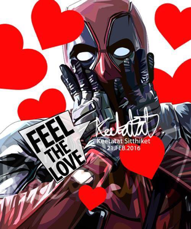 Pop Art 掛畫 - Deadpool Feel The Love 死侍