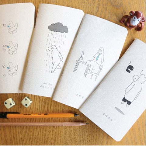 4 New Arrivals for Mr.DoNothing Note Books