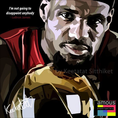 POP ART POSTER NBA STYLIST DRAWING LEBRON JAMES Home Decor Wall Decor