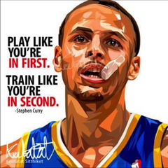 NBA Warriors POP ART POSTER DRAWING STEPHEN CURRY PLAY LIKE HOME Decor