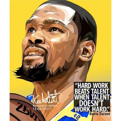 NBA STAR BASKETBALL Player Poster POP ART DRAWING KEVIN DURANT Wall Decor