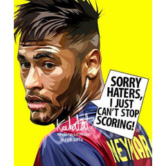 World Cup Soccer Football Player NEYMAR JR. SORRY HATERS