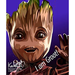 Marvel Groot Pop Art Home Decoration Drawing