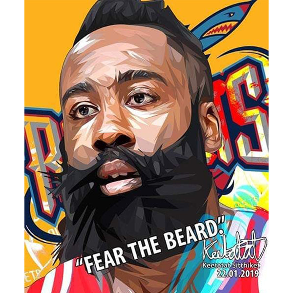 7c0246b8856 Pop Art Poster Wall Decoration Drawing NBA James Harden Basketball Player  Rocket