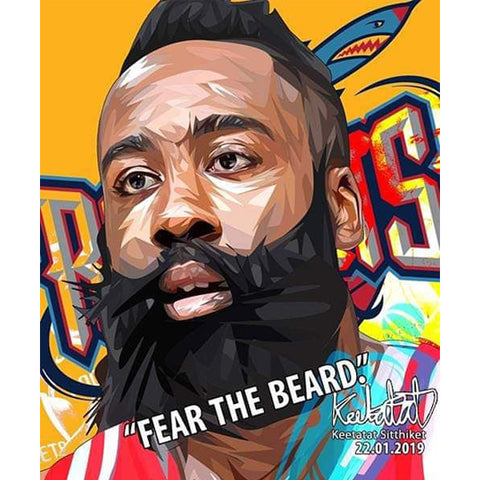 POP ART POSTER WALL DECORATION DRAWING NBA JAMES HARDEN