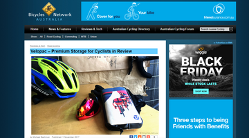 Bicycle Network Australia - Velopac – Premium Storage for Cyclists in Review