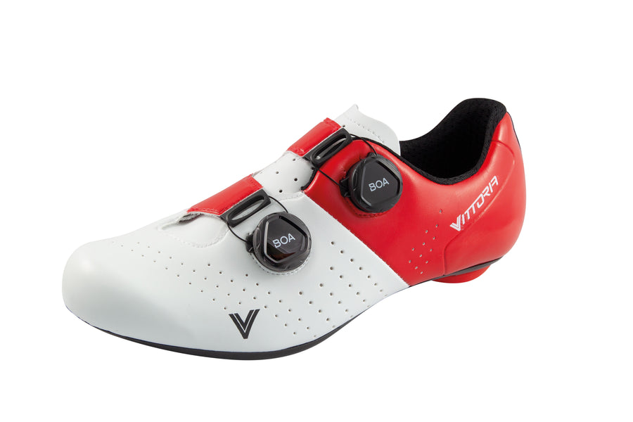 Vittoria Veloce Road Shoes - White/Red