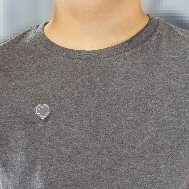Sterling silver heart pin