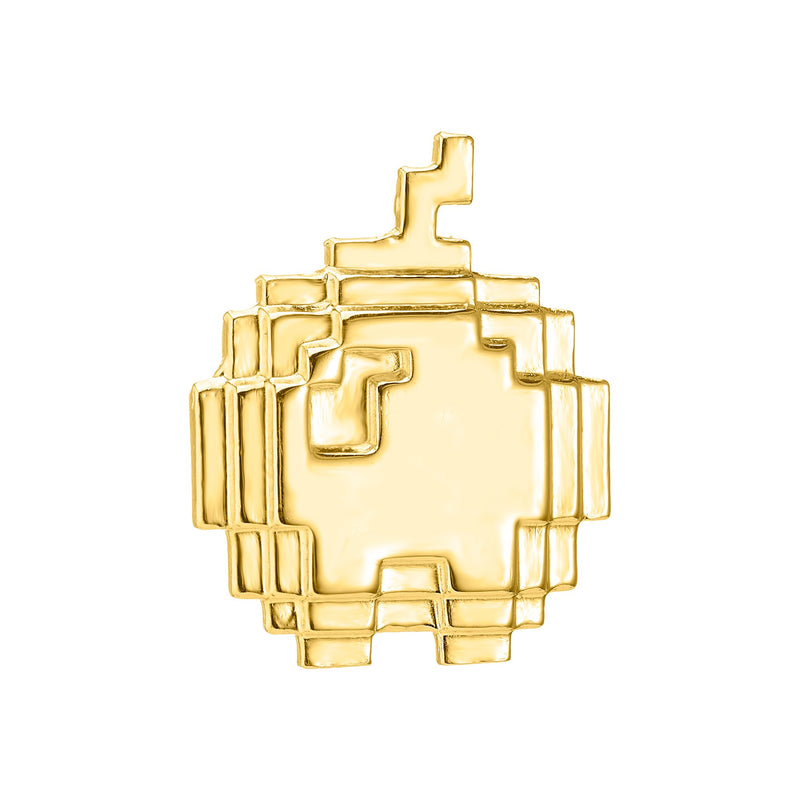 Gold plated apple pin