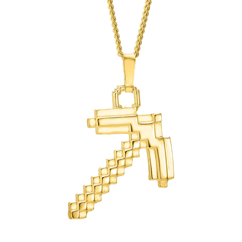Gold plated pickaxe pendant